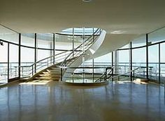 Bexhill Pavilion or De La Wharr Pavilion, UK, by Erich Mendelsohn and Serge Chermayeff, built in Stairs Architecture, Residential Architecture, Interior Architecture, Landscape Architecture, Stair Art, Stair Decor, Rustic Stairs, Rustic Basement, Flooring For Stairs