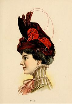 Hats by H O'Neill of New York 1899-1900 Catalogue - Hat No8