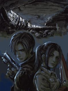 Leon and Claire/ Resident evil degeneration