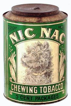 Rare Original Nic Nac Country Store Tobacco Tin Tobacco Shop, Tobacco Pipes, Tin Can Alley, Vintage Packaging, Tin Man, Tin Containers, Old Signs, Vintage Tins, Tin Toys