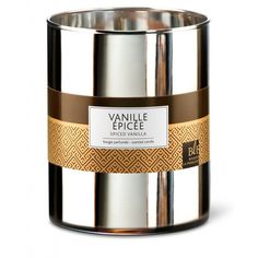 Bougie Parfumée Xl Verre Argenté 100h Vanille Épicée - Taille : TU Image Bougie, Coffee Pack, Candle Diffuser, Luxury Candles, Candle Making, Soap Dispenser, Scented Candles, Candle Holders, Spices