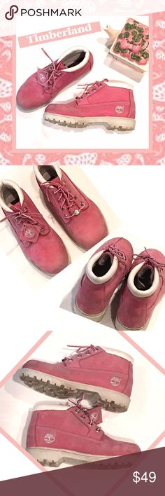 timberland rose pink hiking boots sz m pretty rose pink waterproof brushed leather hiking