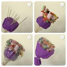 Ramo de chuches - Bouquet de bonbons - Candy flowers bouquet