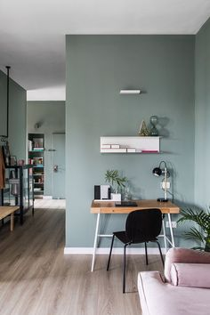 〚 Stylish modern apartment in shades of green in Israel 〛 ◾ Photos ◾Ideas◾ Design Bedroom Interior, Living Room Interior, Interior, Living Room Wall Color, Rugs In Living Room, Home Decor, House Interior, Apartment Interior, Living Room Red