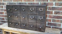 YOUR Reclaimed and Recycled Barn Wood Card Catalog Storage Box With 15 drawers and FREE SHIPPING by timelessjourney on Etsy https://www.etsy.com/listing/124162750/your-reclaimed-and-recycled-barn-wood