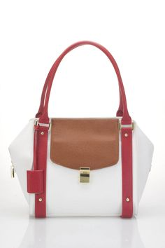 Ivanka Trump Ashleigh Double Shoulder Bag in White - Beyond the Rack