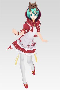Hatsune Miku from the game, Project Diva