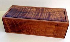 Koa and African Ribbon Mahogany Box with Hidden by UpcountryDesign