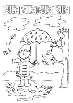 Looking for a Coloriage Novembre Imprimer. We have Coloriage Novembre Imprimer and the other about Coloriage Imprimer it free. Colouring Pages, Coloring Books, Weather For Kids, Fall Arts And Crafts, French Kids, Drawing Sheet, Calendar Time, Learning Italian, Film Aesthetic
