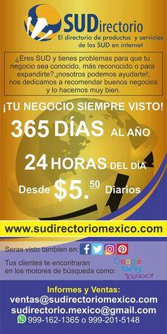 Eres Sud tienes un negocio?, nosotros te ayudamos a que seas mas reconocido y encontrado #sudirectoriomexico