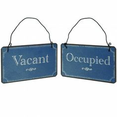 Bathroom Door Signs Vacant vacant/occupied double sided bathroom sign (black) | furniture