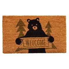 Callowaymills Callowaymills 122261729 Bear Greeting Doormat at Lowe's. Made of natural coir, a dense fiber that is naturally mold and mildew resistant. Coir is a renewable resource that is durable and coarse, excellent for Outdoor Doors, Indoor Outdoor, Coir Doormat, Bear Design, Home Decor Shops, Deco Mesh Wreaths, Door Wreaths, Mold And Mildew, Joss And Main