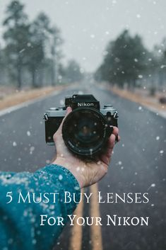 Nikon haven't changed their lens mount in over half a century, so almost every single lens made for Nikon still fits your modern Nikon camera! This lens library runs into the thousands, but we've narrowed it down to just 5 of our very favourite Nikon lenses! #photography #photographytips #learnphotography #Nikon #cameras