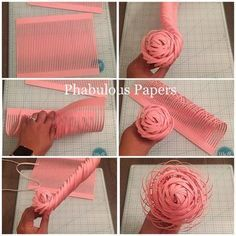 Here's a step by step on how to make a paper flower center. This paper flowe… Here's a step by step on how to make a paper flower center. This paper flower community is a great support system, I've learned so much and… Paper Flowers Craft, Crepe Paper Flowers, Paper Flower Backdrop, Flower Crafts, Diy Flowers, Fabric Flowers, Bride Flowers, Origami Flowers, Origami Rose