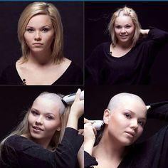 #beforeandafter #beautiful #beauty #bald #buzzcut #girlswithshavedheads #baldlovers thank you @bully404