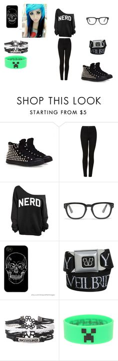 """""""Emo"""" by abigailpsylent ❤ liked on Polyvore featuring Converse, Topshop and Madewell"""