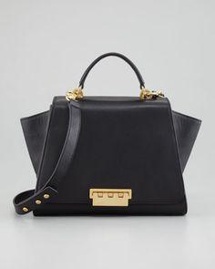 Eartha Full-Flap Satchel Bag, Black by Z SPOKE ZAC POSEN at Neiman Marcus.