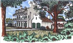House Plan# 1-1100 Colonial Revival, 4 bedroom, 3 bathrooms, 3,283 living area square feet.