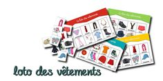 French Clothing Vocabulary Bingo - Lotos vocabulaire - des vêtements