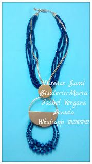 Diseños Sami Bisuteria:   www.bisuteriasam.blogspot.com: Collar en cristal mix con herraje