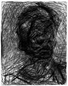 Frank Auerbach Frank Auerbach, Leon Kossoff, Plastic Art, Portrait Art, Portraits, A Level Art, Life Drawing, Drawing Stuff, Mark Making