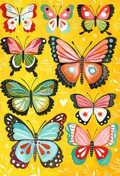Butterflies by Katie Daisy.