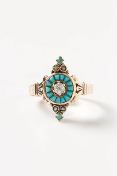 Diamond & Turquoise Ring from the 1890s