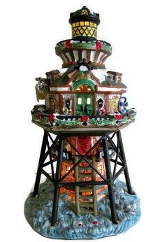Carole Towne Lighted Windmill Christmas Collectible Carole Towne ...