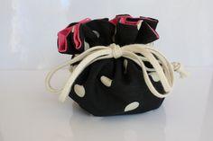Black and white polka dots - Pillpouch Brighton™ NEW!! – Sara Gorman's Pillbags