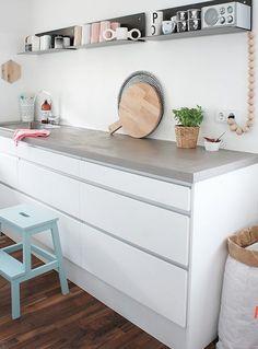 Spot the BEKVAM stool in this white kitchen! Kitchen Interior, New Kitchen, Kitchen Dining, Kitchen Island, Dining Room, Kitchen Ideas, Kitchen Decor, Küchen Design, House Design