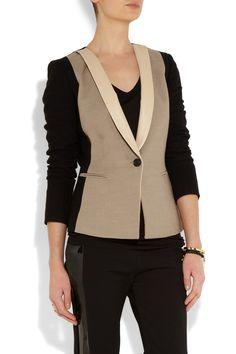 DKNY   Color-block woven blazer   NET-A-PORTER.COM