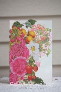 Acetate card made with Webster's Pages 'Strawberry Fields' collection.