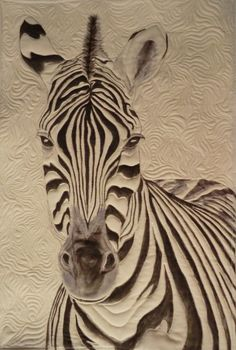 Original pattern, ZeBra quilt using tsukineko fabric inks By Sherrie Cahill 2013