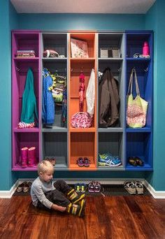 Looking for Storage and Utility and Mudroom ideas? Browse Storage and Utility and Mudroom images for decor, layout, furniture, and storage inspiration from HGTV. Family Room Design, Room Organization, Storage Spaces, Shoe Storage, Storage Ideas, Coat Storage, Garage Storage, Backpack Storage, Backpack Organization