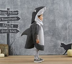 We have this costume & it's awesome! >> Toddler Shark Costume | Pottery Barn Kids #pinsavvy #halloween