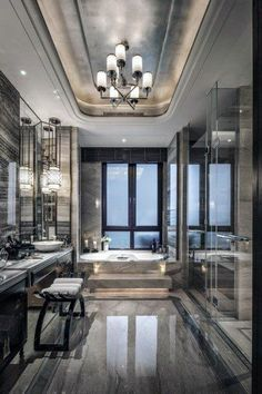 Top 60 Best Master Bathroom Ideas - Home Interior Designs - Ultra Modern Master.,Top 60 Be. , , Top 60 Best Master Bathroom Ideas - Home Interior Designs - Ultra Modern Master. Modern Master Bathroom, Modern Bathroom Design, Bathroom Interior Design, Modern House Design, Bathroom Designs, Bathroom Gray, Bathroom Marble, Master Baths, Bathroom Wall