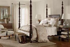 ethanallen.com - Ethan Allen | furniture | interior design | lifestyles | vintage | bedroom    Like bedding