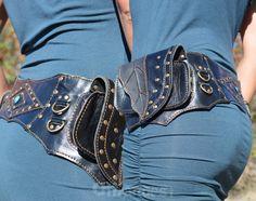 """Leather Utility Belt _""""LEAF""""_High Quality Handmade Designer Pocket Hip Belt Bag 4 Gypsy/Nomad/UrbanLifestyle [Festival Bag.Travel.Hip Purse]"""