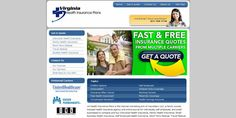 This health insurance website is integrated with an online quoting system that provides instantaneous quotes to visitors. Quotes are generated from the most popular health insurance companies in Virginia. The logo and design reflect the traditional c Find affordable Individual major medical insurance today.