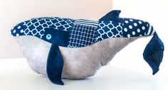 Free pattern: Wesley the Very Big Whale softie
