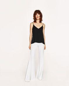 Immagine 2 di TOP BRETELLE COMBINATO di Zara