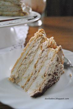 tort bezowy z nutą czekolady
