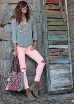 Women S Fashion Designer Brands Product Boho Outfits, Summer Outfits, Casual Outfits, Cute Outfits, Fashion Outfits, Look Hippie Chic, Look Boho, Fashion Mode, Look Fashion