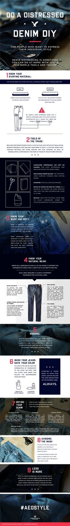 Always wonder how your favorite style icons achieve the perfect distressed denim look? Here's a step-by-step guide on how to distress your denim at home with a few simple tools and tricks.