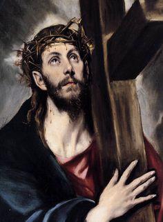 cristo abrazado a la cruz 1580 Museo Metropolitano de Arte, Nueva York, Estados Unidos.