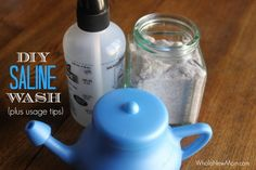Homemade Saline Wash - a great natural remedy for colds, allergies and all sinus problems.
