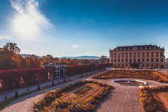 Schloss Schönbrunn, Vienna, Austria   Patrycja Kasprzycka    Instagram: @p.kasprzycka   Website: kasprzycka.at   #vienna #austria #architecture #city #travel #vacation #guide #europe #wonderlust #autumn #fall #colors #sun #sunrays #sunshine Vienna Austria, Autumn Fall, Sunshine, Louvre, Europe, Vacation, Website, Architecture, City