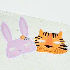 hello, Wonderful - FREE PRINTABLE BUNNY AND TIGER ANIMAL MASK