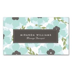 Elegant Blue Floral Business Cards - Groupon. This great business card design is available for customization. All text style, colors, sizes can be modified to fit your needs. Just click the image to learn more!