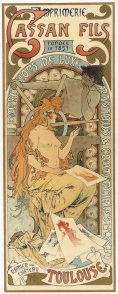 ''Imprimerie Cassan Fils'' ~ Alphonse Mucha, 1896